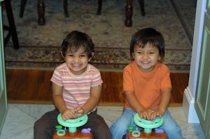 kids on ride on toys